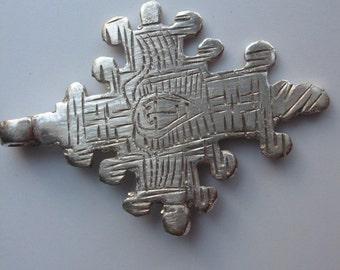 Ethiopian Coptic Cross Pendant, Ethiopian pendant, Silver pendant, Cross pendant, silver cross
