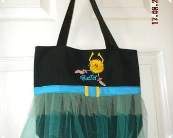 Child's Turquoise TuTu Ballet Dance Bag Tote