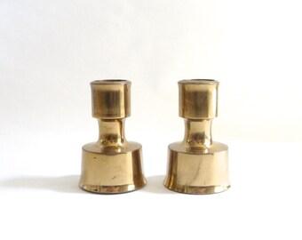 Modernist Dansk Brass Candlesticks Quistgaard JHQ IHQ Candle Holders