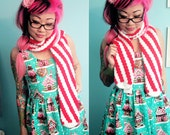 Striped Candy Cane Scarf - Ready to Ship