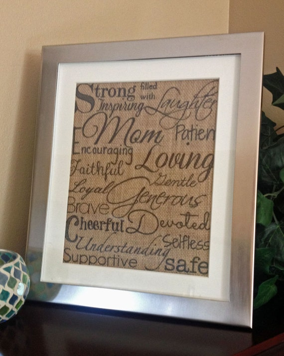 Mother's Day burlap wall art