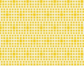 Squared Elements in Citrine Yellow - by Pat Bravo - Art Gallery Fabrics - Premium Cotton Quilting Fabric - One Yard