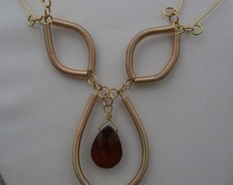 Gold Coil Necklace set