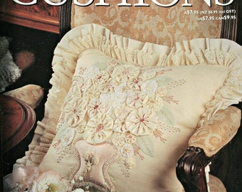 Sewing  Patterns Decorative Cushions Pillows Quilting Embroidery Throw Pillows Vintage Paper Original NOT a PDF