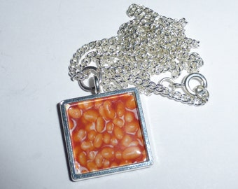 Baked Beans Pendant Necklace