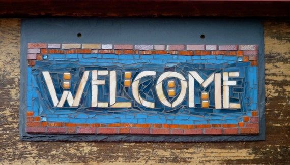 MADE TO ORDER Arts and Crafts Style Welcome Sign