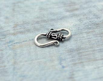Destash- Sterling Silver S Hook Clasp- 1 Piece