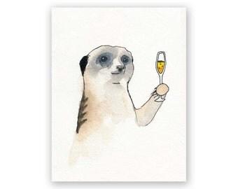 Meerkat Congrautlations Card
