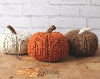 Fall Decor, Stuffed Pumpkins, Knit Pumpkins, Halloween, Thanksgiving Decor, Pumpkin Decor, Thanksgiving Table Decor, Rustic Thanksgiving