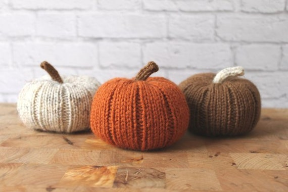 Fall Decor, Stuffed Pumpkins, Knit Pumpkins, Halloween, Thanksgiving Decor, Pumpkin Decor, Thanksgiving Table Decor, Rustic Thanksgiving