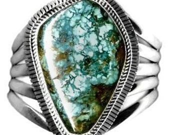 Sale: Navajo Turquoise and Sterling Silver Cuff Bracelet