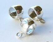 3 pcs 925 Sterling Silver Beads Charm Holder Fit 3mm Bracelet F376