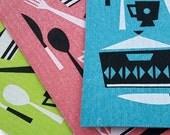 Sale! Swedish Dishcloths - Retro Kitchen Pack