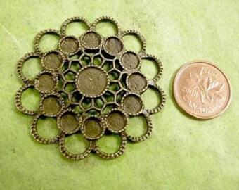 2pc antique bronze zinc alloy connector-1551x2