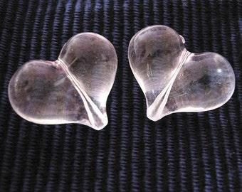 4pc 30x21mm heart shape acrylic beads-1929