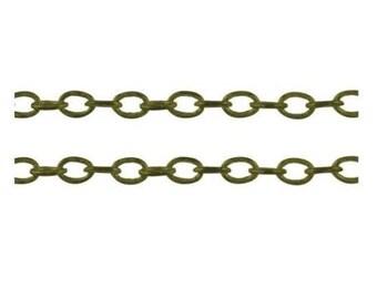 5 feet antique bronze finish lead nickel free brass chain 4x3mm-2376