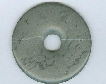 50mm Gray Artistic Jasper PI Donut Pendant 511