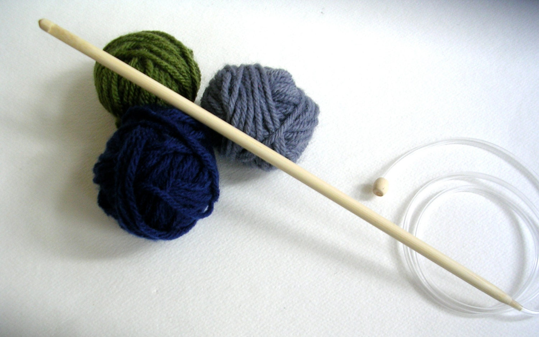 Crochet I Hook : Crochet Hook Bamboo Size 5.5mm I Tunisian by LindsayStreemDIY