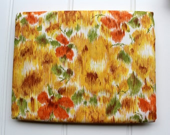 New Vintage Duvet Cover - Cotton Comforter and Blanket Cover  - New Twin Full Queen - Orange Yellow Green - Unused NIP NOS Comforter Cover