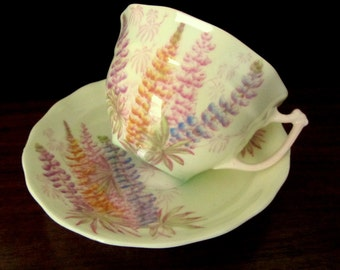 Old Royal Bone China Teacup And Saucer From England
