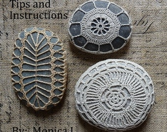 Tips and Instructions Guide for creating Lace Stones, NOT Patterns, By Monicaj, The Secrets