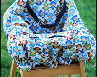Shopping Cart Cover for Boy or Girl Custom by Tinder Designs Boutique -  MONKEYS