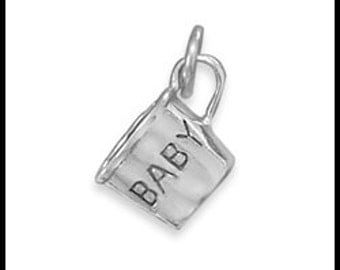 Sterling Silver Baby Cup Charm