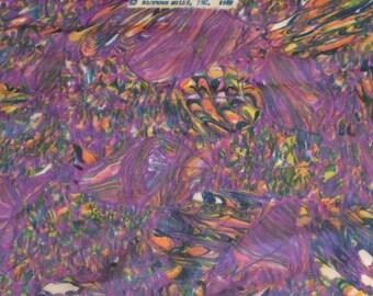 Vintage Chiffon Purple Print Dressmaker Fabric - Over 5 yards