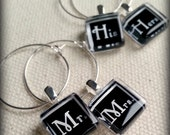 Mr Mrs and His Hers Glass Wine Charms l Perfect for the Bride and Groom Toasting Flutes on their Special Day l Bride and Groom Wedding Gift