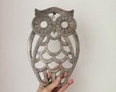 Vintage Owl Trivet