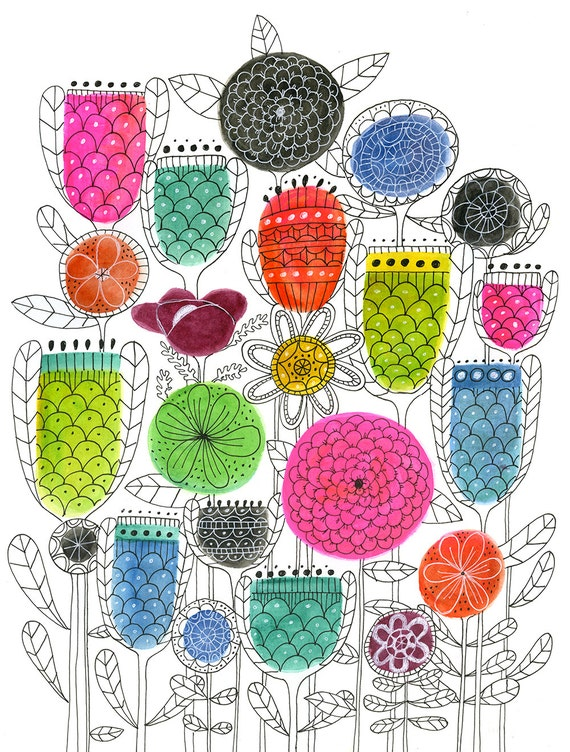 Lisa Congdon Spring Blossoms Art Print