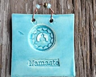 Namaste Mini Tile in Turquoise