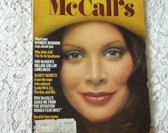 Vintage Magazine..McCalls February 1972, paper supplies for journaling, collage, scrapbooking, paper ephemera and MoRE