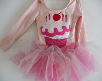 PINKALICIOUS Cupcake Tutu- Pinkalicious Birthday Party - Personalized with name and birthday candles