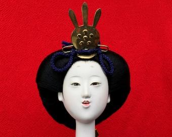 Japanese Doll Head Hina Matsuri Japanese Doll Festival Woman's Head D5-5 Queen