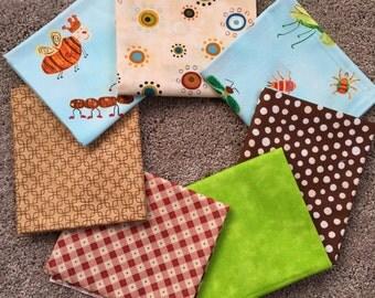 Fabric Destash no. 141, 142 -- 7 Fat Quarters