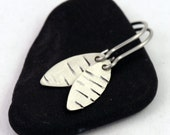 RESERVED Small Silver Earrings - Birch Texture