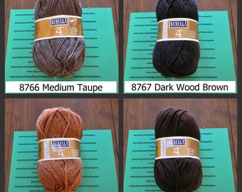 """Bernat Berella - """"4"""" Knitting Worsted Weight - assorted colors - 3 1/2 oz - 1 skein"""