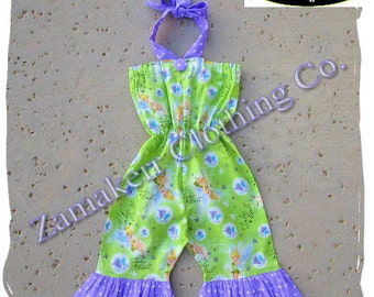 Custom Boutique Clothing Girl TINKER BELL Romper Set Birthday Outfit Jumper Summer Halter Size 3 6 9 12 18 24 month size 2t 2 3t 4t 4 5t 6 7