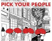 Alexandria Love 8x10 print- Pick your couple and umbrella color!