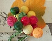 Vintage / Millinery Fruits / Variety / Fabric Autumn Leaf