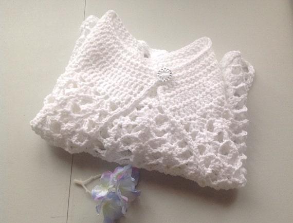 Crochet Pattern Communion Cape : First Communion Wedding Cape Flower Girl Shawl handmade