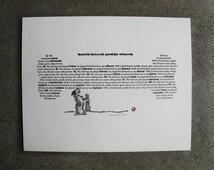 Letterpress Print Knick Knack Paddy Whack • Nursery Rhyme Theme • Poster Decor • 11x14 • Ink petals
