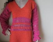 CROCHET DRESS,  Felicity Shagwell festival dress,  Medium ready to ship! HALLOWEN Costume, Felicity Shagwell Costume, Mod dress, retro dress