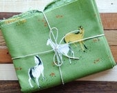Heather Ross Ponies Fabric  in Moss Green