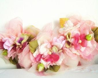 Flower Festival- OOAK Floral Neckpiece - Ready to ship xx