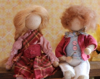 Highland Spirits, custom made doll, wooden bendy doll