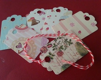 Gift Tags with Baker's Twine One Dozen
