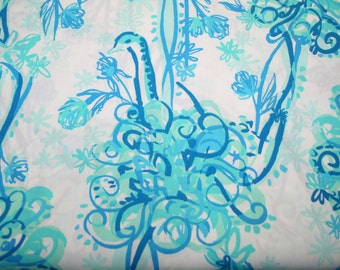 """Lilly Pulitzer 2015~ """"BACK IT UP """"  Cotton Poplin fabric  18 inch by 18 inch"""