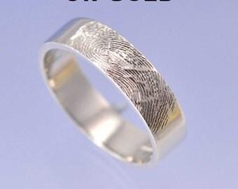 Fingerprint Ring. 9k Gold (Red, white or yellow gold)
